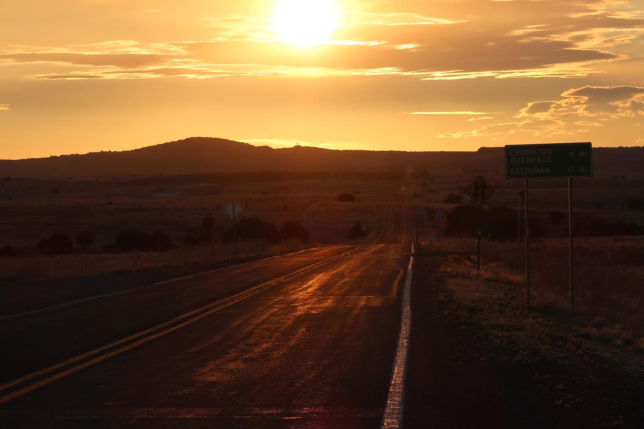 route-66-coucher-de-soleil